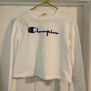 White Champion Long Sleeve